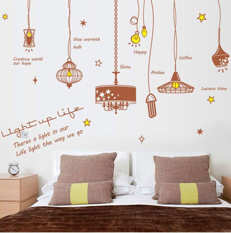 Acheter Vintage Light Bubble Sticker Mural Lampe Illuminez Notre