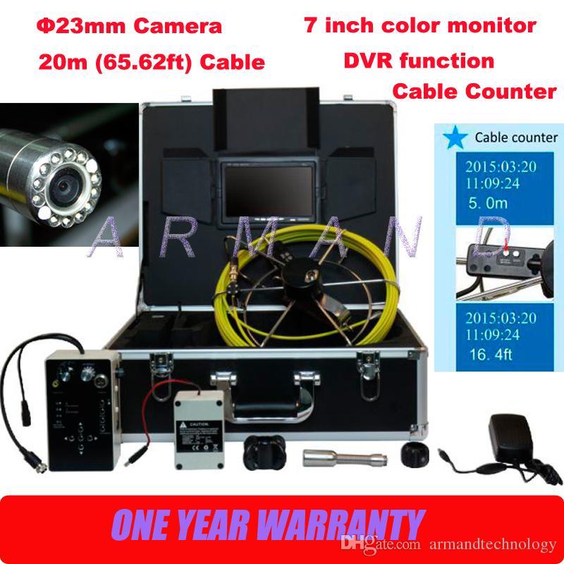ماء الأنابيب كاميرا تحت الأرض السباكة التفتيش DVR 710DC CMOS الاستشعار 8GB بطاقة الذاكرة الرقمية المؤمنة منظار بوريسكوب