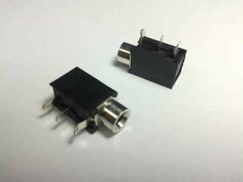 "25P25pCS 1/8 ""3.5mm Jack Mono Casque Socket PCB Panel Mount Châssis 3pin"
