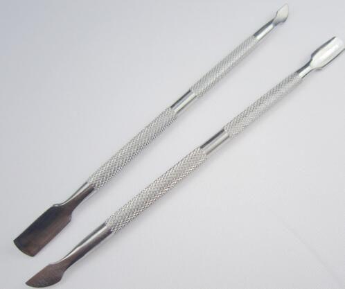 Zweiweghaut-Prellung-Nagelhaut-Schieber-Edelstahl-wesentliche Nagelhaut-Maniküre-Pediküre-Nagel-Kunst-Werkzeug-Schieber-Entferner