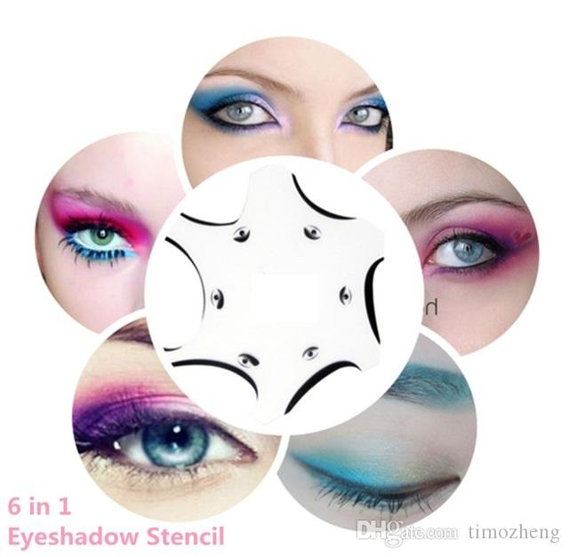 In Eyeshadow Stencils For Eye Shadow Template Card Smokey Eye - Eyeshadow template