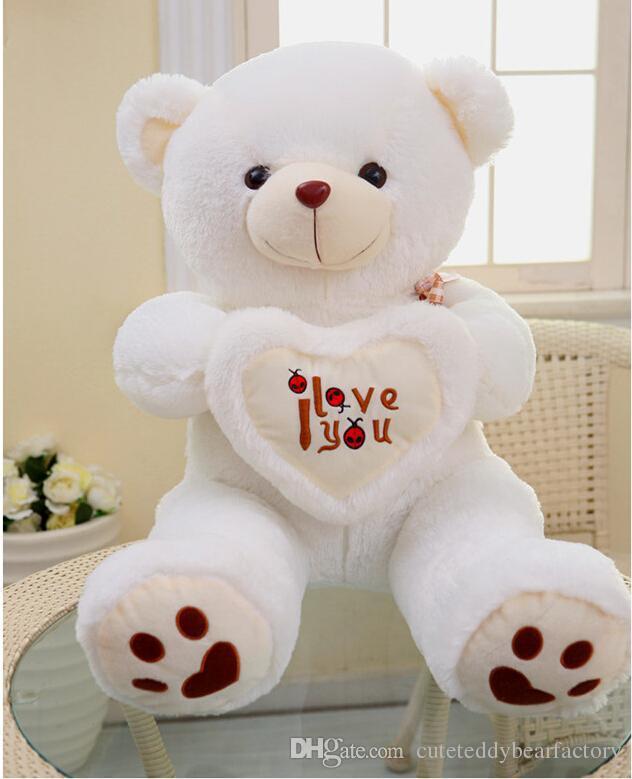 Beige Giant Big Plush Teddy Bear Soft Gift For Valentine Day Birthday KD11  ...