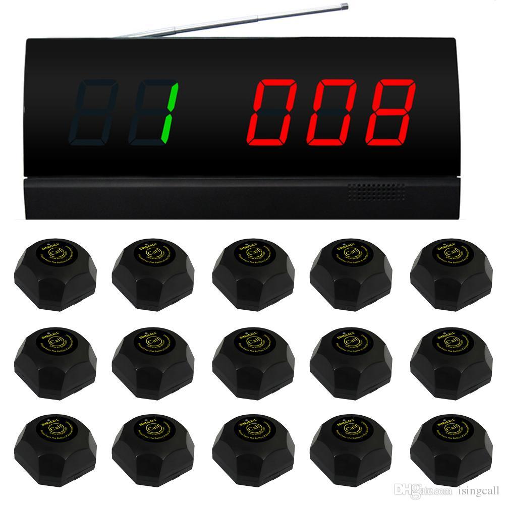 SINGCALL.wireless Service Calling System für das Paging-System wileware house.table. 15 Stück schwarze Glocke und 1 PC-Monitor