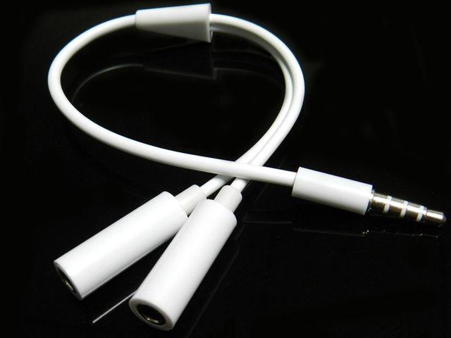 도매 3.5 mm 이어폰 헤드셋 헤드폰 MP3 MP4 오디오 스테레오 플러그 Y 분배기 케이블 어댑터 잭 1 남성 2 듀얼 여성