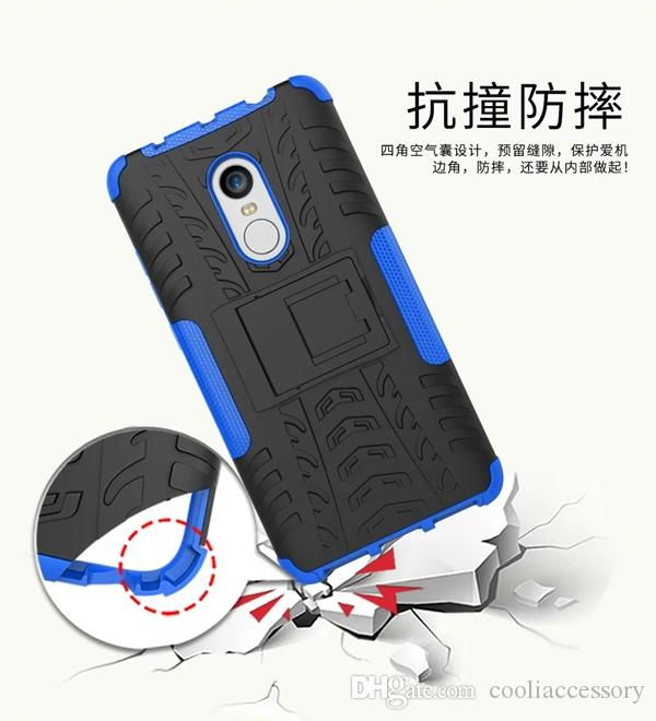 the latest 6186d c1618 Luxury Hybrid Armor Stand Hard PC TPU Case For Xiaomi Hongmi Redmi Note 4  Huawei Y3 Y5 II Tire Tyre Durable Shockproof Football Skin Cover Cell Phone  ...