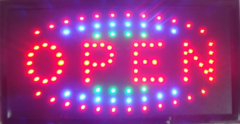 2017 direct selling top selling busniss store billboard/led Electronic sign/led open sign 25*48CM wholesale