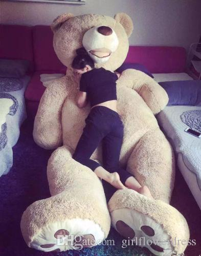 """WITH ZIPPER 200CM SUPER HUGE TEDDY BEAR ONLY COVER 79/"""" PLUSH TOY SHELL"""