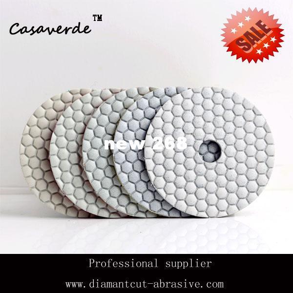 Ücretsiz kargo 4 inç (100mm) granit elmas kuru parlatma pedleri için mermer ve taş parlatıcı ped elmas beton