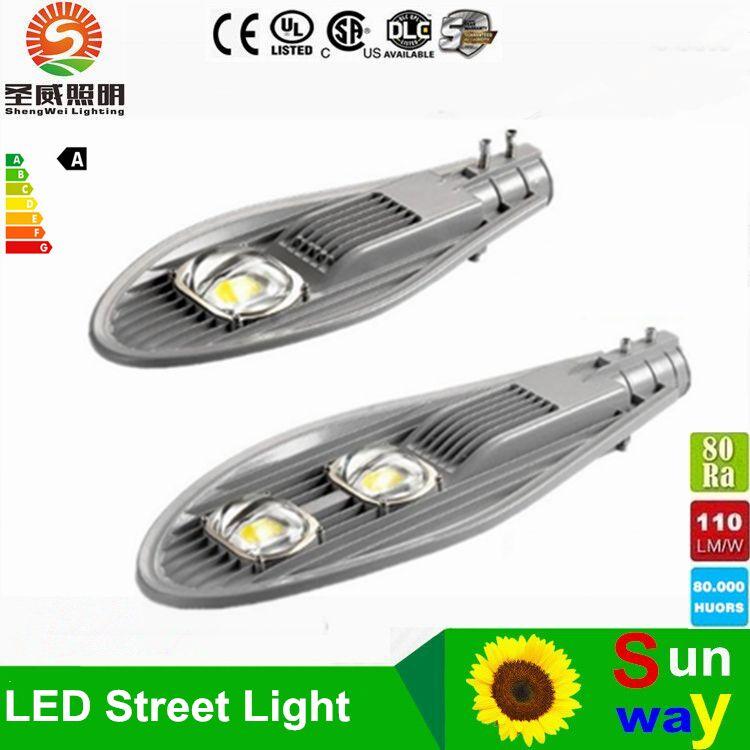 Светодиодный уличный свет 50W 80W 100W 150W AC85V ~ 265V Высокопрочный Cobra Head Свет дороги Сад Открытый Light Factory Direct DHL бесплатно Shippin