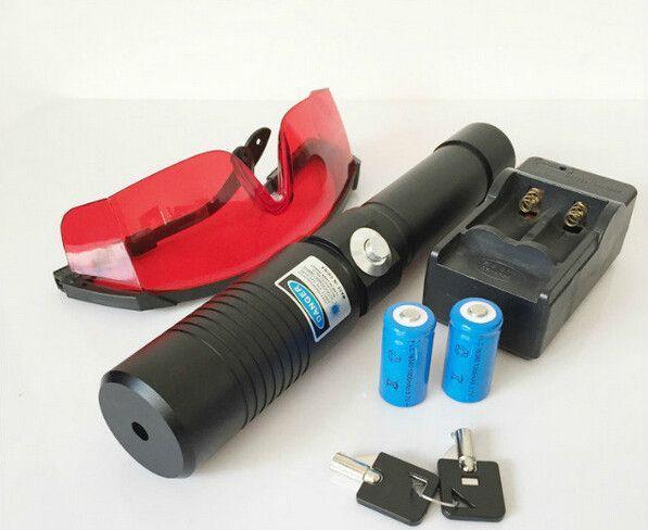 Super Poweful DHL Big 5w Blue 450nm Laser Pointer Flashlight 50000m