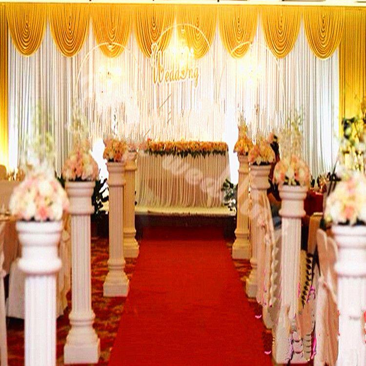Wedding decorations props 3m6m sequins beads edge design fabric short description junglespirit Image collections