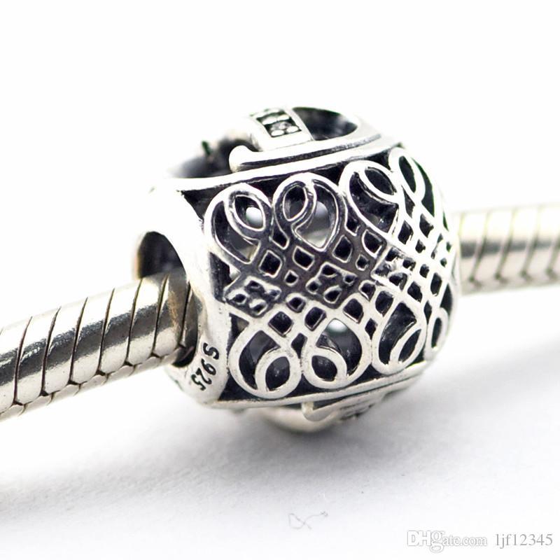 Старинные письмо B ясно CZ бусины подходит Pandora браслеты бусины аутентичные стерлингового серебра 925 бусины DIY Шарм Оптовая 2016 Новый