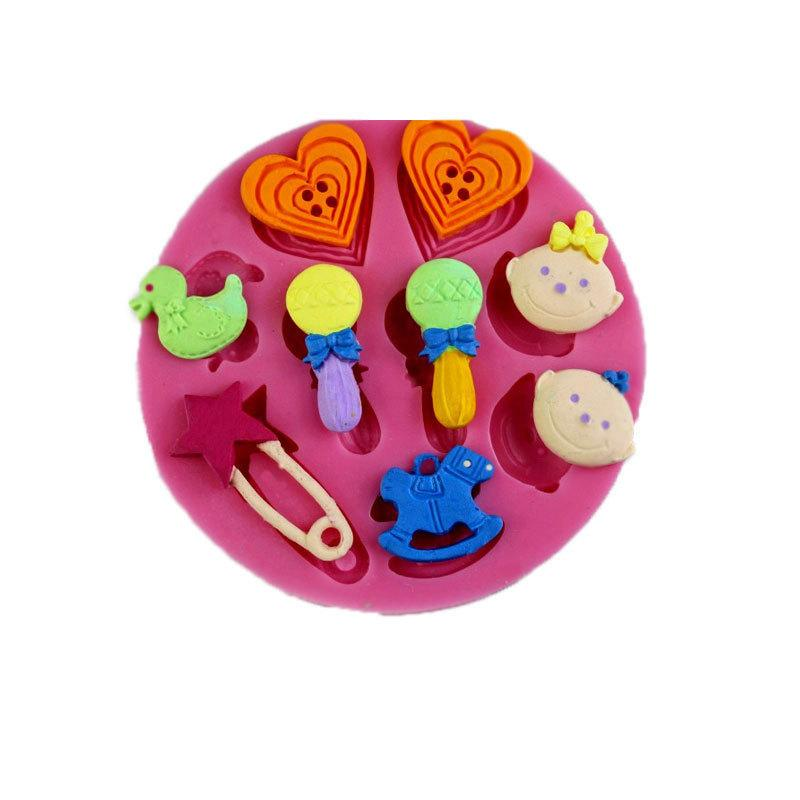 baby toy silicone fondant cake mold ,candle molds, chocolate mould for cakes free shipping TY1905