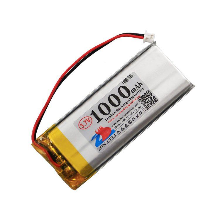 In 1000mAh 562359 3.7V lithium polymer battery 552560 cordless phone speaker reading machine