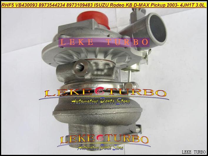RHF5 VB430093 8973544234 8973109483 ISUZU Rodeo KB D-MAX Pickup 2003- 4JH1T 3.0L 130HP turbocharger (4)