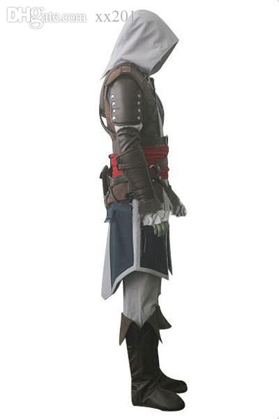 Wholesale-Customized Halloween Cosplay  Assassins Creed IV Black Flag Edward Kenway 4 cosplay whole Assassins Creed Costume