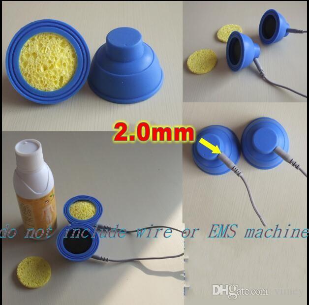 Électrodes Tens / EMS. coussin d'électrode d'éponge de silicium médical en caoutchouc de silicone