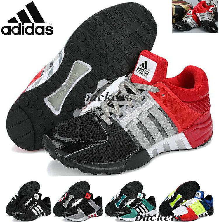 Originals Adidas Eqt Support 93 ZX 12000 Classic Retro Running Shoes Men Black Red Authentic Sneakers US 7 8 8.5 9.5 10 Cheap Discount Jogging Shoes