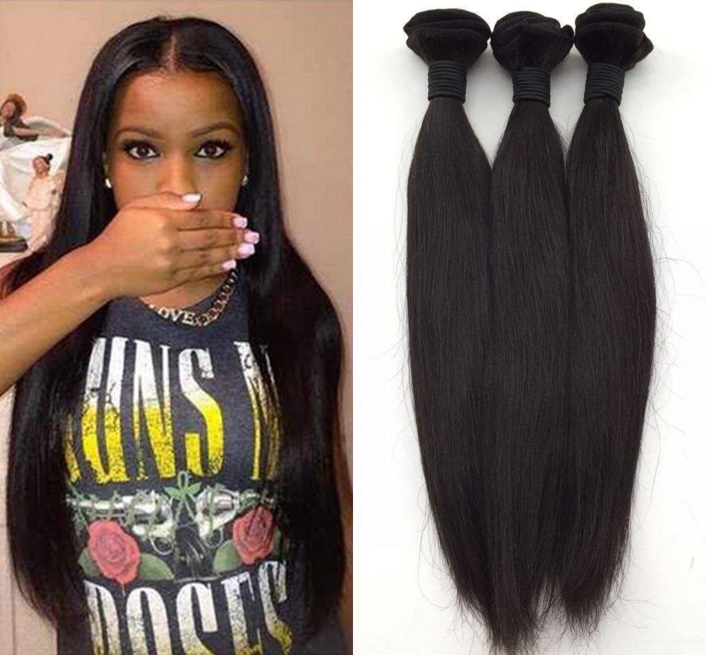 Indian,Peruvian,Malaysian Original Human Brazilian Hair weft Wavy 3Pcs Brazilian Straight Virgin Human Hair Weaves Products