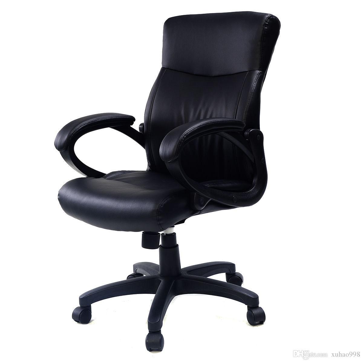 2016 style PU cuir chaise de bureau ergonomique ordinateur bureau bureau noir