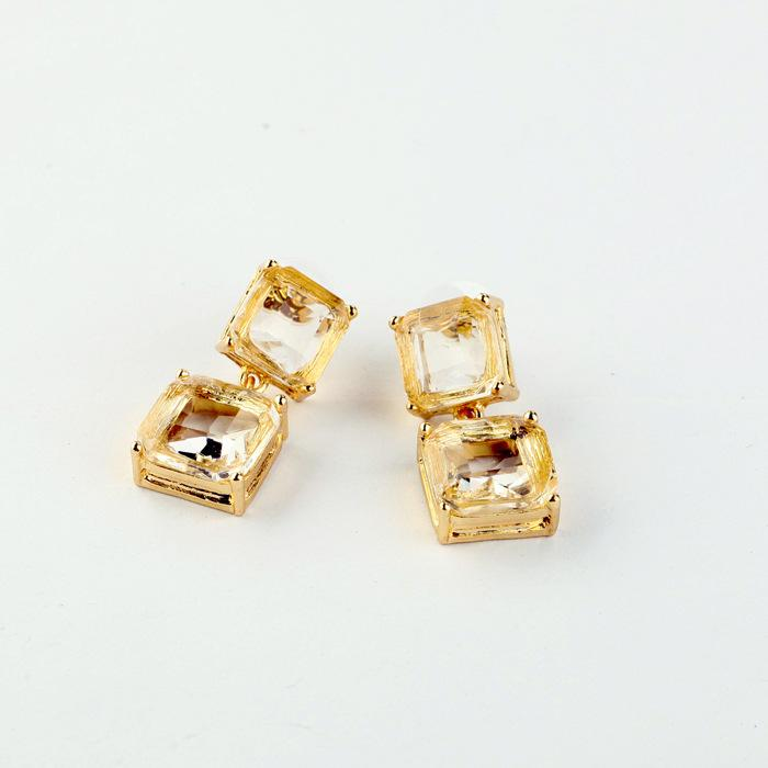 2018 rectangle topaz chandelier earrings light transparent golden rectangle topaz chandelier earrings light transparent golden geometry crystal earring bevel square popular for lady mozeypictures Gallery