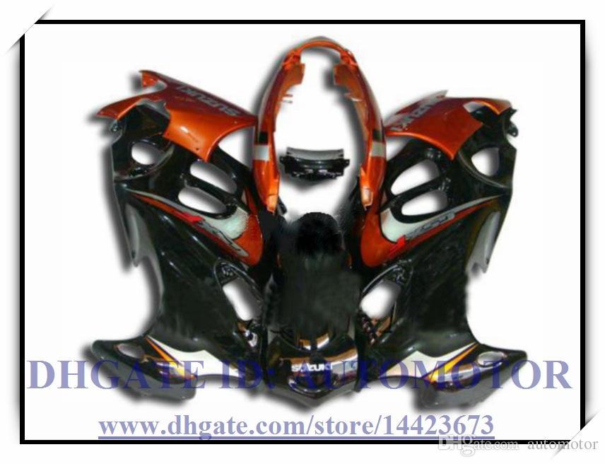 Kit carena al 100% di alta qualità per Suzuki GSX600F / 750F 1997-2005 GSX 600F GSX750F 1998 1999 2000 2001 # HD772 nero