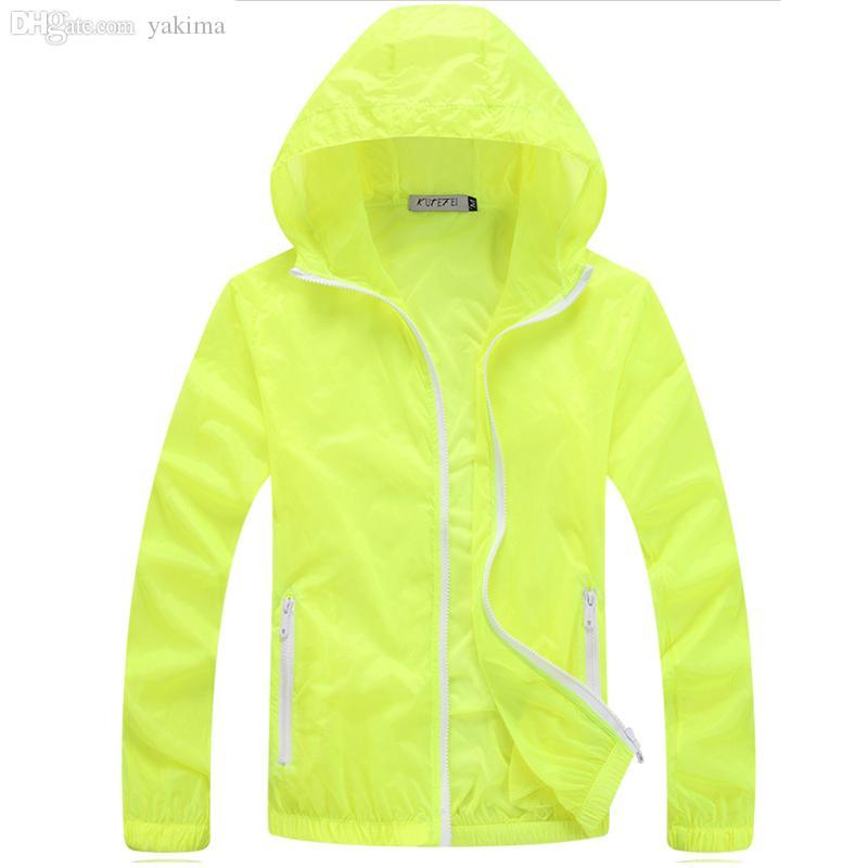 Herbst-Sommer 2016 neue Männer dünne Sonnencreme Kleidung wasserdichte Kapuze Männer Jacke plus 6 Farben Casual Solid Color Jacke männlich MWJ1732