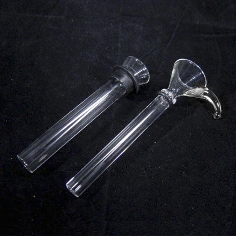 2017 Fabrication pas cher Glissière En Verre Femelle et Tige Mâle avec Caoutchouc Noir simple downstem pour pipe à eau en verre bongs livraison gratuite