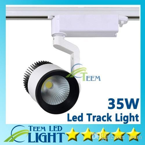Las luces LED de RoHS del CE venden al por mayor 35W COB Lámpara de pared llevada de la pista de la pista llevada, el seguimiento de Soptlight llevó la iluminación AC 85-265V Envío libre 5050