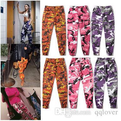 Pantalon de danse de rue de style militaire de la côte ouest Pantalon de camouflage Hiphop Hommes Femmes Combinaison Casual Pantalon de sport Adolescent Mode Streetwear