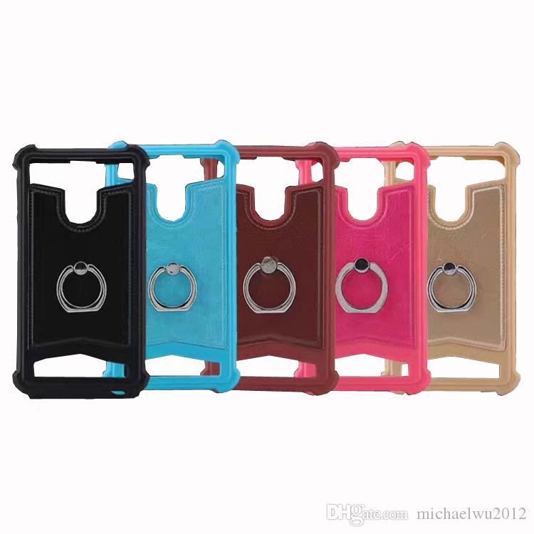Universal TPU Abdeckung Silikon Telefon Ledertasche für Archos 45 Helium 45 Titanium 45b Helium # 3 Gophone Ring stehen Handy Fällen