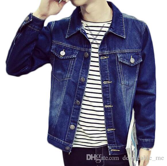 Casual Denim Jacket Hommes Sport En Plein Air Jeans Manteaux Plus La Taille 3XL Printemps Marque Vêtements Veste