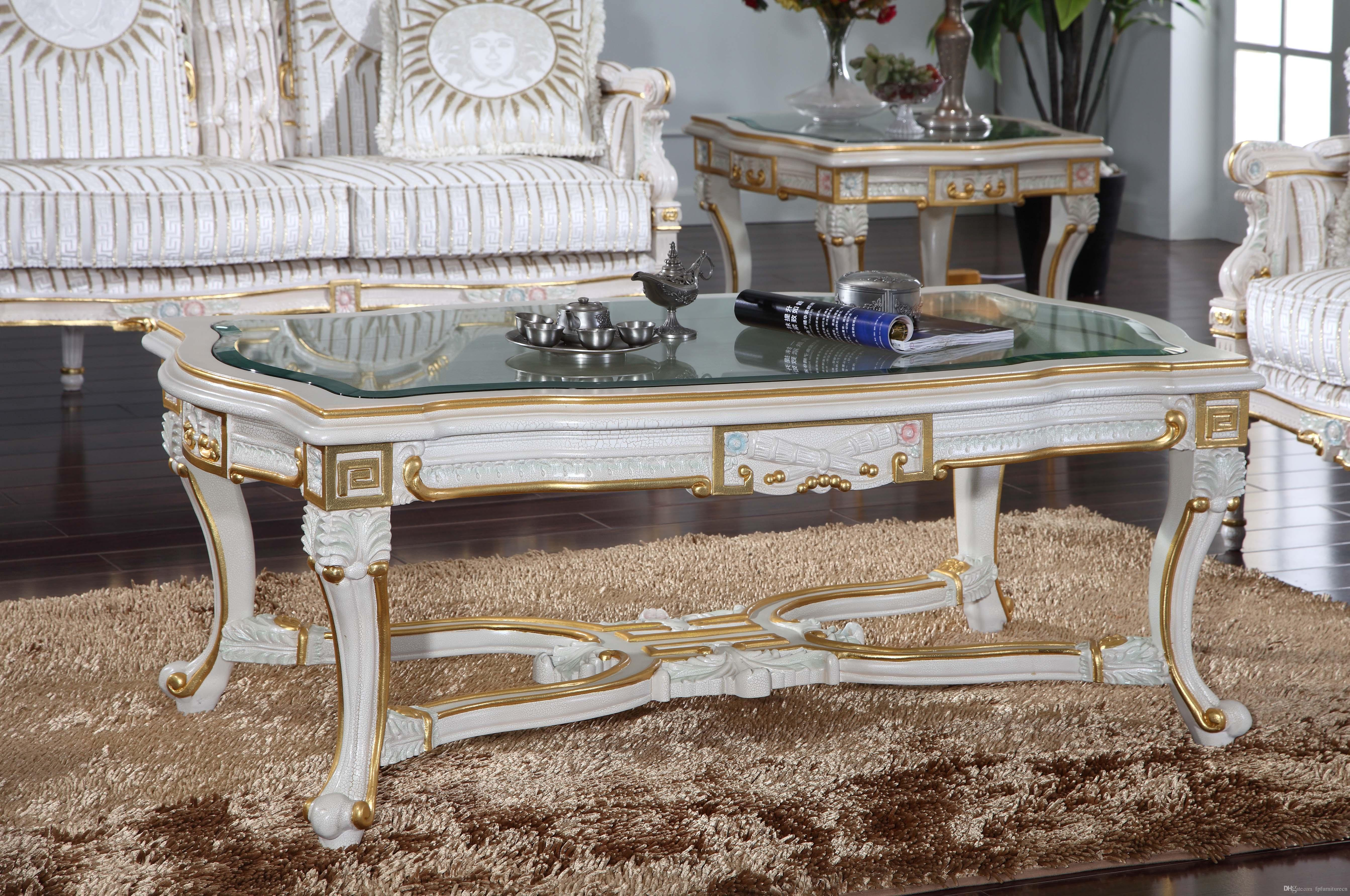 2020 Luxury Royalty Living Room Furniture Frenchclassic Coffee