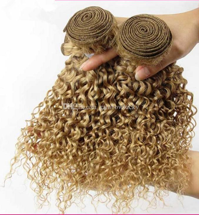 8a Blonde Mongolian Kinky Curly Hair Honey Blonde Curly Hair