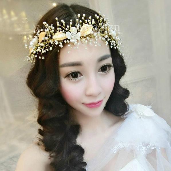 Bridal hair comb Wedding hair jewelry crystal hair piece pearls hair accessories Art Deco Head Piece Headdress