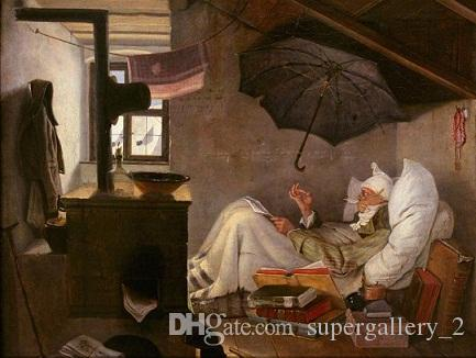 Il povero poeta dipinto a olio d'arte a mano sulla qualità del museo di tela Qualità Varie dimensioni coustomizzata disponibili FVW