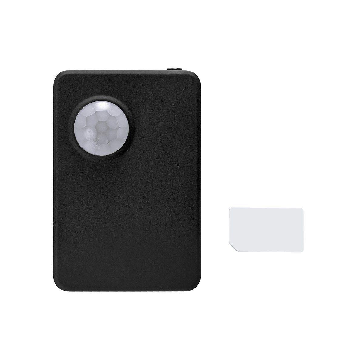 Détecteur de mouvement infrarouge d'alarme de sonde de mini PIR sans fil, système d'alarme de GSM anti-vol / Locater de voiture, traqueur de GPS, Dail automatique et enregistrement de voix