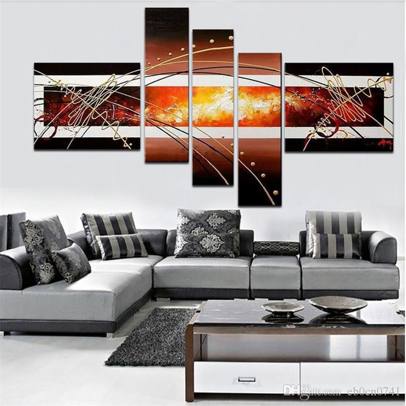 High-quality oil painting 100%hand-painted Wall Paintings Home Decorative 5 pcs/set Modern Abstract Art Paintings for Sale