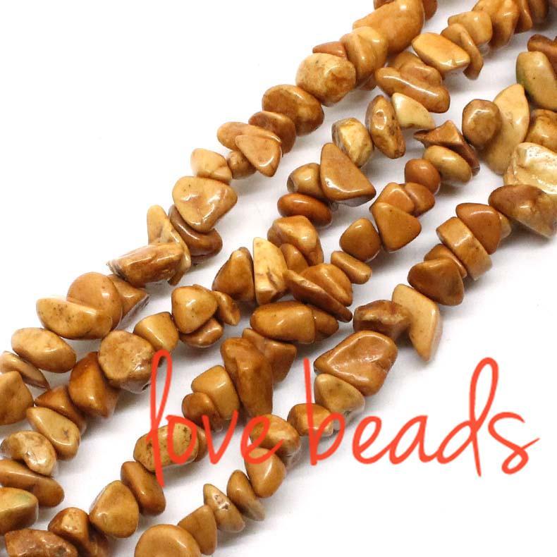 5-8mm Freeform Khaki Natürliche Türkis Kies Lose Perlen Strang 80 CM DIY Armbänder (F00353) großhandel