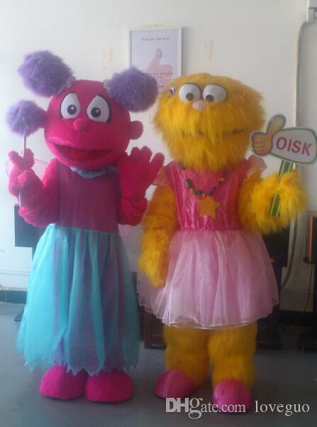 Yellow Zoe costume high  quality fancy dress Mascot Costume Festival//Hallooween