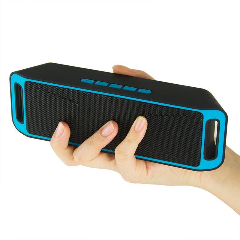 50PCS / lotto Hi-Fi portatile senza fili Bluetooth Mini portatile HiFi Bluetooth Stereo Audio Speaker con radio FM SC208 all'ingrosso della fabbrica