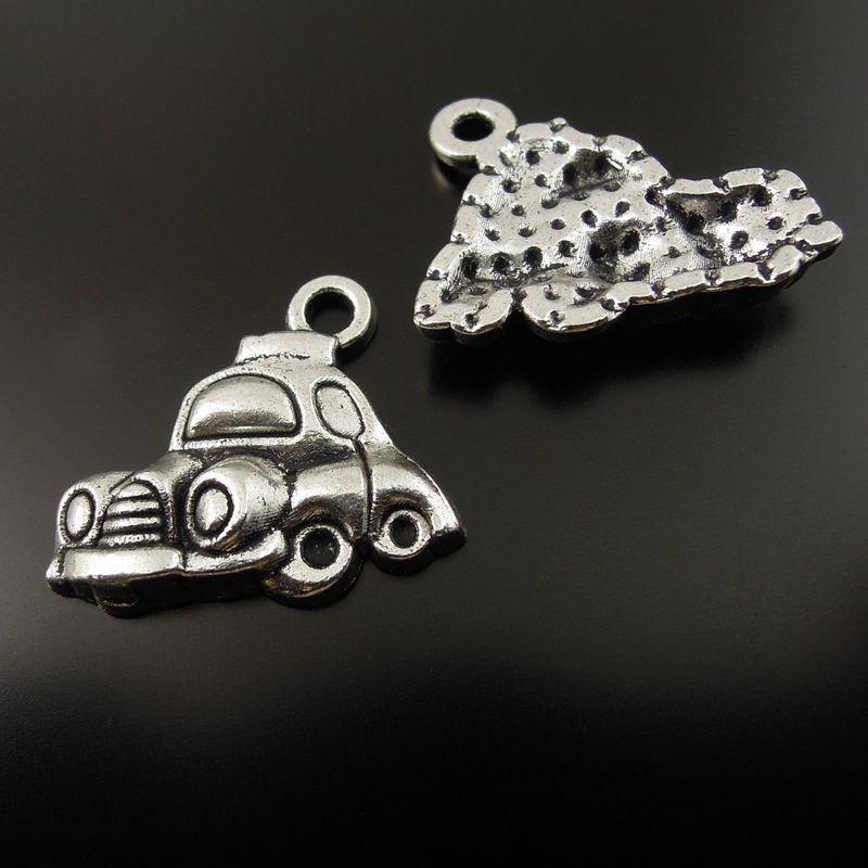 50pcs / pacchetto argento antico in lega di zinco monili di fascino del pendente trovare 19 * 13 * 3MM 37116 creazione di gioielli