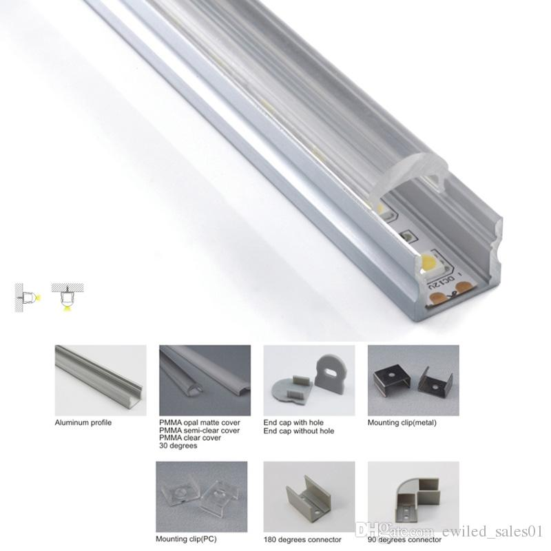 10 X 1M sets/lot Anodized U aluminium profile and Al6063 T6 led aluminum extrusion for ceiling or wall lights