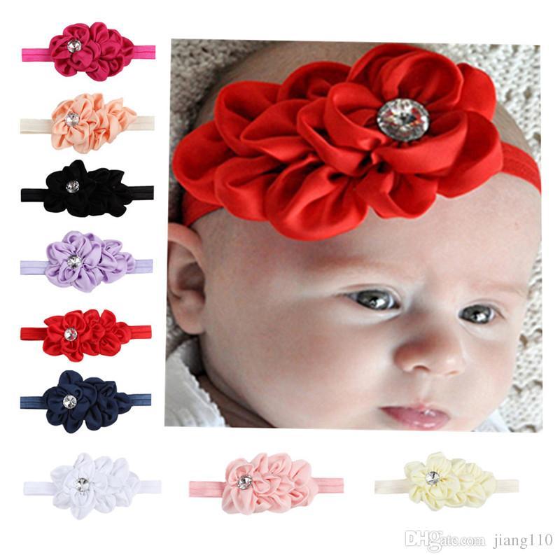 New Baby Girls Toddler Kids Elastic Leaves Flowers Hair Band Headband Headwear