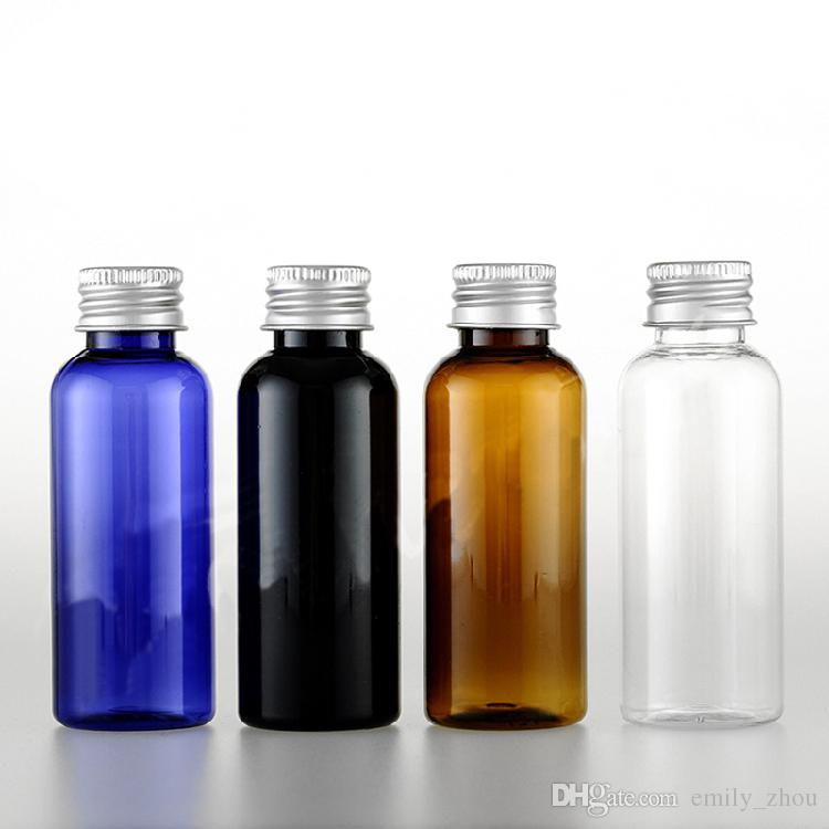 50ml Black Empty Plastic Shampoo Cosmetic Bottles Aluminum Caps Lotion  Container DIY Oil Bottles Washing Containers Metal Cap Perfume Bottle Tops