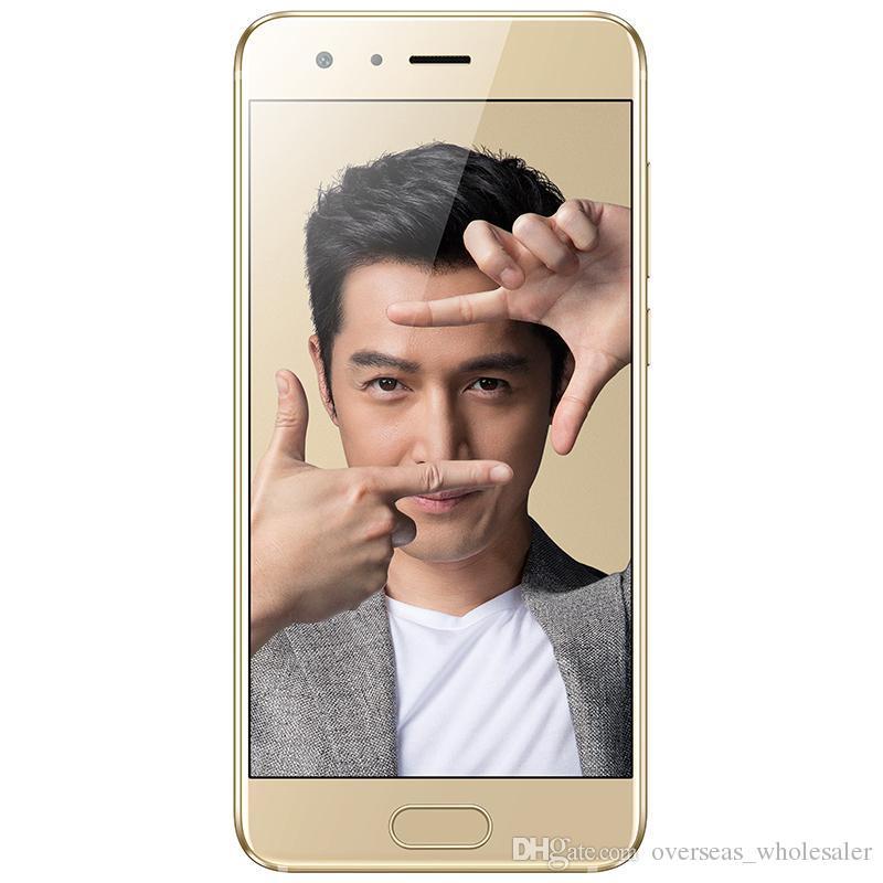 Оригинал Huawei Honor 9 4G LTE сотовый телефон 6 ГБ RAM 128 ГБ ROM Кирин 960 Octa Core Android 5.15-дюймовый 20-мегапиксельной идентификацией отпечатков пальцев NFC Смарт-мобильный телефон