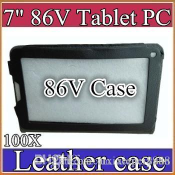 """100X 7 inch colorful 7"""" flip leather case for Allwinner 2G 86V tablet pc protect 5-PT"""