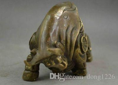 China Copper Carve Whole Body Ricchezza statua di bue zodiacale realistico