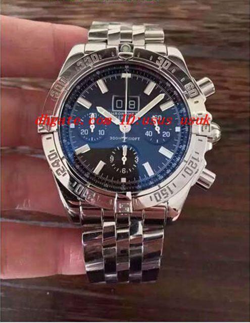 Luxury Watches Orologio da polso BRAND NEW MENS 1 Motors Acciaio inossidabile 48mm Neptune Blue Dial A44362 Men Watch