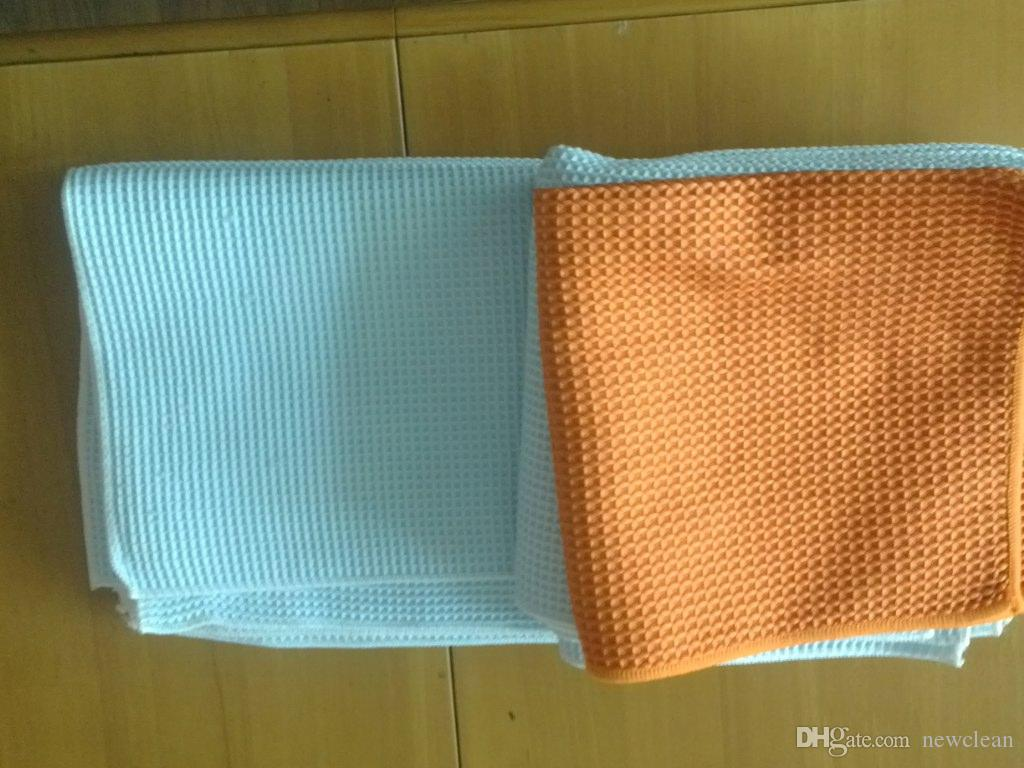 ستوكات 40x40cm 380gsm زجاج نافذة تنظيف القماش المناشف ماجيك الملابس البولندية منشفة قطعة قماش للتنظيف الضوئية قطرة منشفة